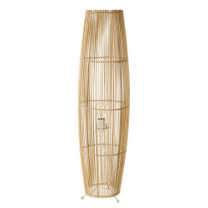 Lampadar bej din bambus si fier 88 cm Barnie Unimasa