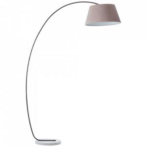 Lampadar maro/gri din metal si textil 196 cm Brok Brilliant