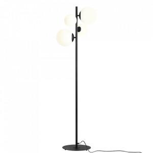 Lampadar negru/alb din metal si sticla cu 4 becuri 161 cm Balia Aldex