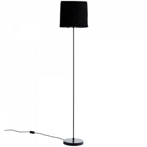 Lampadar negru din fier si poliester 141 cm Tassels Floor Lamp Madam Stoltz