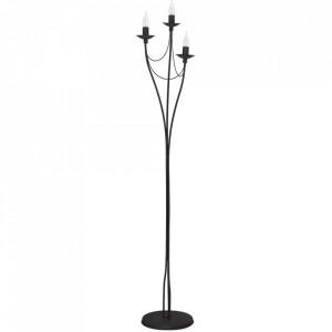 Lampadar negru din metal cu 3 becuri 164 cm Roza Aldex