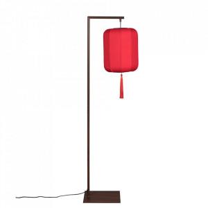 Lampadar rosu/negru din fier si textil 157 cm Suoni Dutchbone