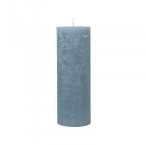 Lumanare albastra din parafina 20 cm Rustic Cozy Living Copenhagen