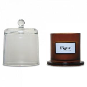 Lumanare parfumata cu suport maro chihlimbar/transparent din sticla 13 cm Woody Fig Opjet Paris