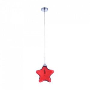 Lustra argintie/rosie din metal si sticla Star Maytoni