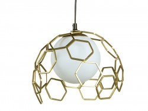 Lustra aurie din aluminiu si sticla 27 cm Sphere Santiago Pons