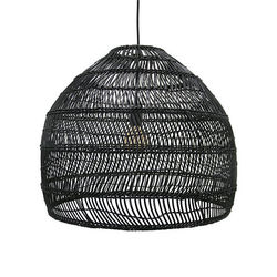 Lustra din rachita neagra 60 cm Wicker HK Living