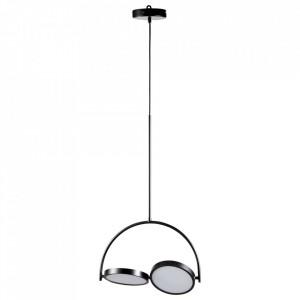 Lustra neagra din metal cu 2 LED-uri In-Circles Bolia
