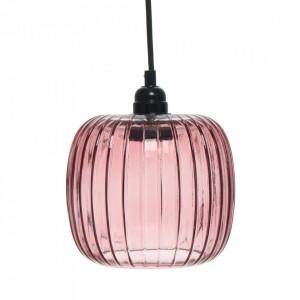 Lustra roz din sticla Claudia Kayoom