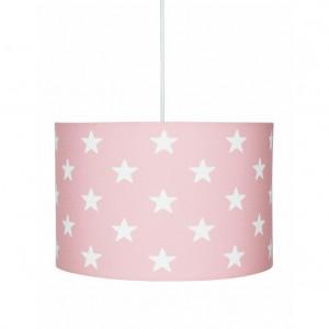 Lustra roz din textil si inox Stars Livone