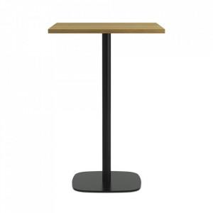 Masa bar neagra/maro din lemn si otel 70x70 cm Form Normann Copenhagen