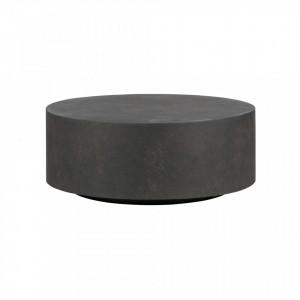 Masa cafea rotunda ciment 80 cm Dean Woood