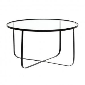 Masa cafea rotunda din sticla 80 cm Harper Bloomingville