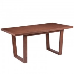 Masa dining din lemn 90x160 cm Alice Walnut Somcasa