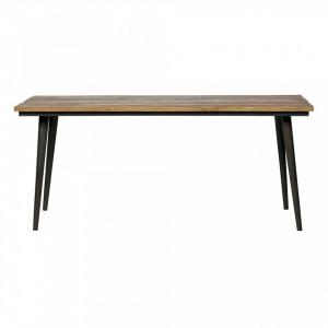 Masa dining din lemn de ulm reciclat si fier 90x180 cm Guild Be Pure Home