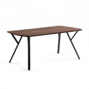 Masa dining din lemn si metal 95x200 cm Babeli La Forma