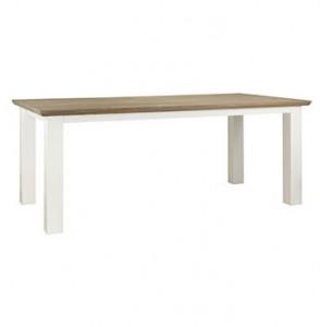 Masa dining maro/alba din MDF si lemn 100x190 cm Cardiff Table Medium Richmond Interiors