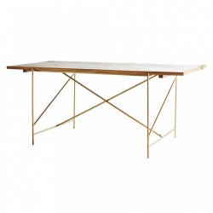 Masa dining maro/aurie din fier si lemn 90x180 cm Darius Madam Stoltz