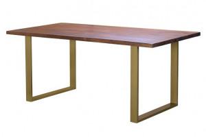 Masa dining maro din lemn de mango si metal 90x180 cm Opal Giner y Colomer