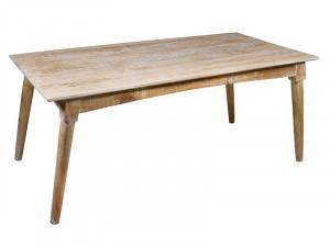 Masa dining maro din lemn mindi 90x180 cm Curvy Santiago Pons