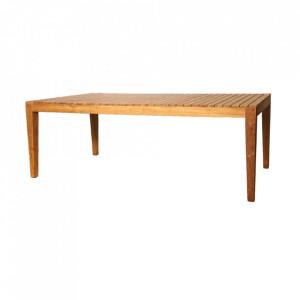 Masa dining maro din lemn pentru exterior 95x200 cm Clifton LifeStyle Home Collection