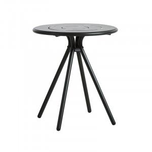 Masa dining pentru exterior neagra din aluminiu 65 cm Ray Woud