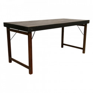 Masa dining pliabila maro din lemn reciclat 70x165 cm Haldi Raw Materials