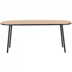 Masa maro/neagra din lemn si otel pentru cafea 60x100 cm Move Bolia