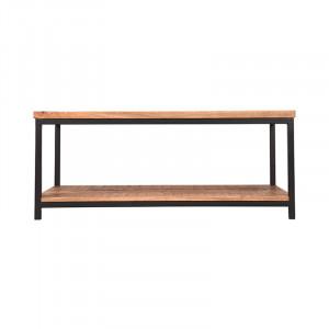 Masa neagra/maro din lemn si metal pentru cafea 60x110 cm Avi Vintage LABEL51
