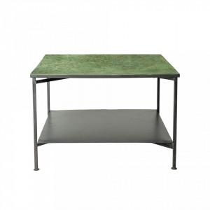 Masa patrata verde pentru cafea din metal 60x40 cm Bloomingville
