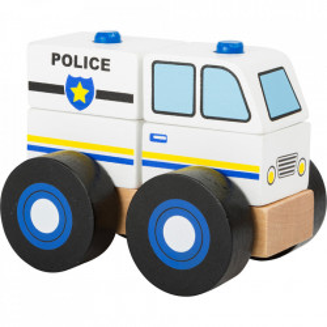Masina de jucarie 5 piese din lemn Police Small Foot