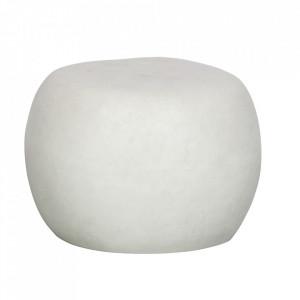 Masuta alba din fibre de lut pentru exterior 50 cm Pebble Woood