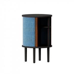 Masuta albastru petrol/neagra din lemn si poliester 38 cm Audacious Umage