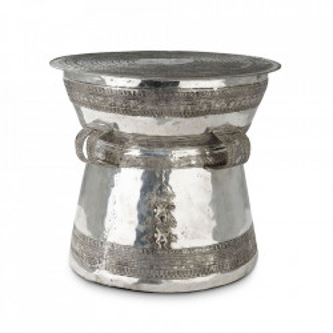Masuta de cafea argintie din alama 55 cm Drum Thai Eichholtz