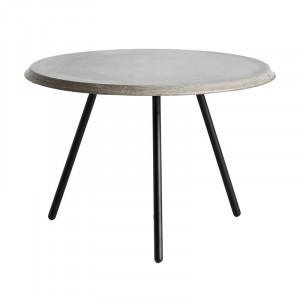 Masuta de cafea gri/neagra din beton si metal 60 cm Soround Woud