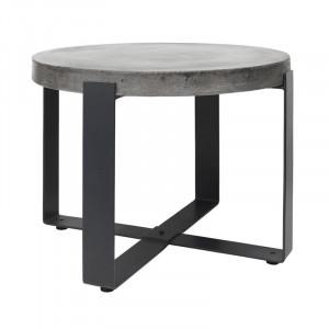 Masuta gri/neagra din beton si fier pentru exterior 60 cm Ellis Cozy Living Copenhagen