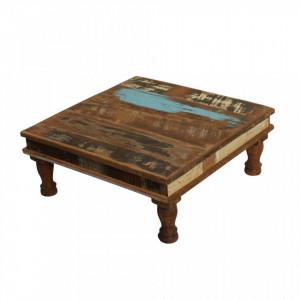 Masuta maro din lemn 33x33 cm Pata Raw Materials