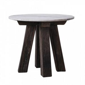 Masuta maro din lemn si marmura 60 cm Sonia Bloomingville