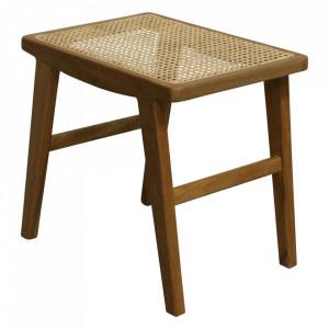 Masuta maro din lemn si ratan 36x48 cm Nova Raw Materials