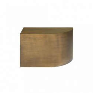 Masuta maro din otel 30x60 cm pentru cafea Slay Element Straight Bronze Versmissen
