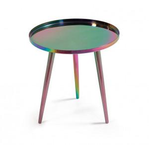 Masuta multicolora din metal 38 cm Naima Kave Home