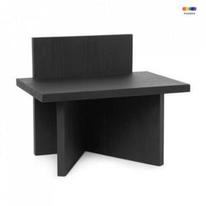Masuta neagra din lemn 29x40 cm Avi Oblique Ferm Living