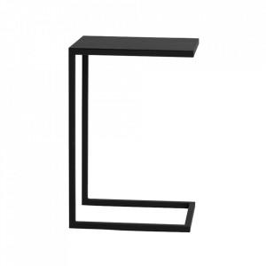 Masuta neagra din metal 30x40 cm Lupe Custom Form