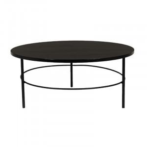 Masuta neagra din placaj si fier pentru cafea 40 cm Radisson Lifestyle Home Collection