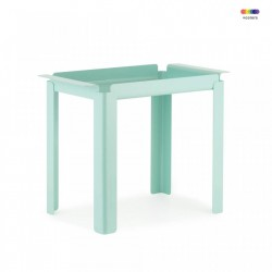 Masuta turcoaz din otel 33x60 cm Box Table Normann Copenhagen