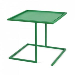 Masuta verde din otel 44x44 cm Viha Serax