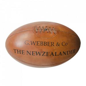 Minge decorativa maro din piele 30 cm Rugbyball Versmissen