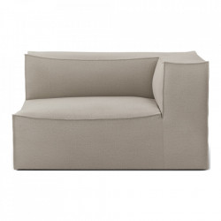 Modul canapea bej din bumbac si in 138 cm Catena Armrest Right Natural Ferm Living