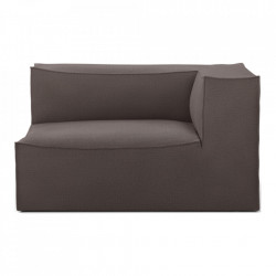 Modul canapea maro din bumbac si in 138 cm Catena Armrest Right Hot Ferm Living