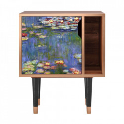 Noptiera multicolora din MDF si lemn The Water Lily Pond By Claude Monet Furny